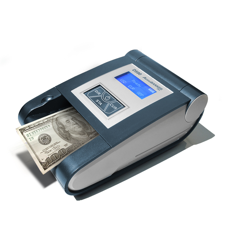 Detectora Automática de Serial para múltiples monedas UV MG IR DD Modelo D450 Accubanker A.Melville Dòlares Quetzales