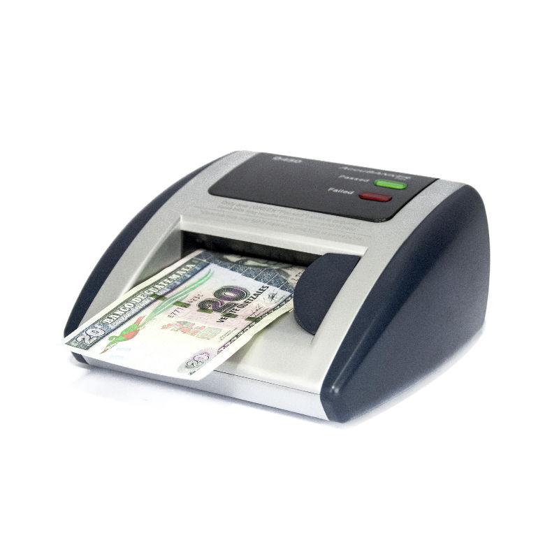 Detectora Automática de Billetes Blanqueados / Lavados UV MG WM IR Modelo D450 Accubanker A.Melville Dòlares Quetzales